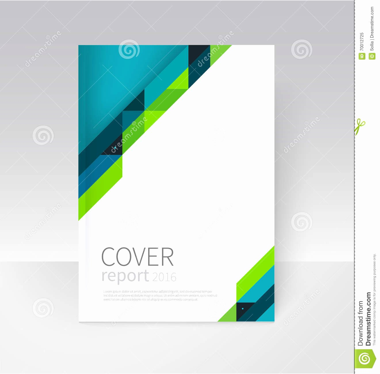 Report Cover Page Template Awesome Brochure Flyer Poster Annual Report Cover Template