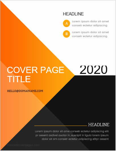 Report Cover Page Template Beautiful 5 Best Business Report Cover Page Templates for Ms Word