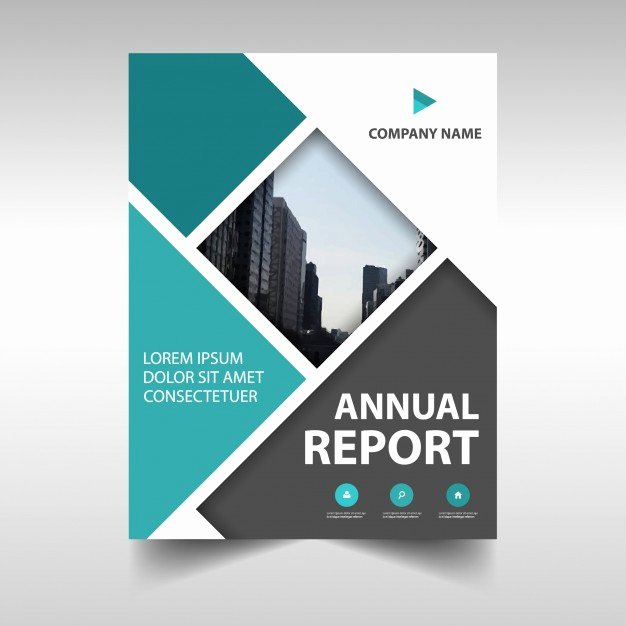 Report Cover Page Template Elegant Abstract Annual Report Cover Vector