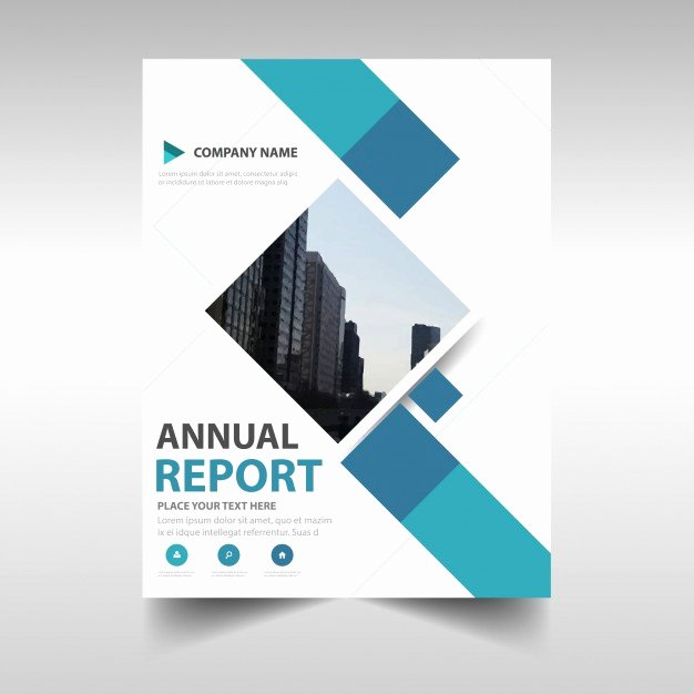 Report Cover Page Template Fresh Blue Creative Annual Report Book Cover Template Vector