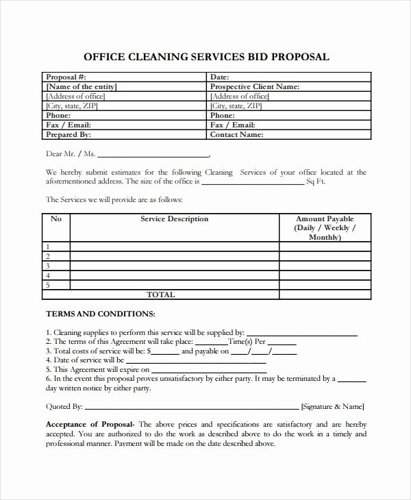 Request for Proposal Template Word Best Of Service Proposal Template 8 Free Word Pdf Document