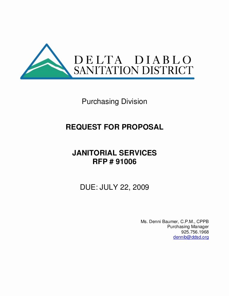 Request for Proposal Template Word Inspirational Microsoft Word Rfp Janitorial Svcs Draft