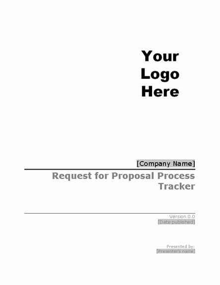 Request for Proposal Template Word Luxury Request for Proposal Rfp Process Tracker