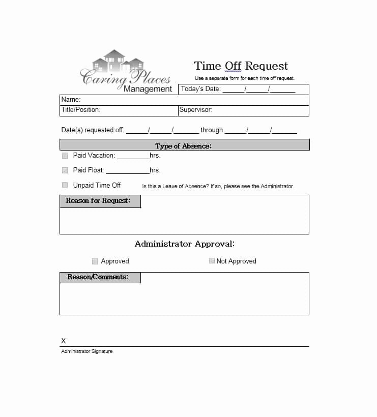 Request Off forms Templates Awesome 40 Effective Time F Request forms & Templates