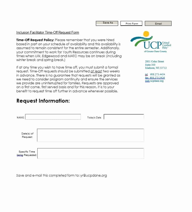 Request Off forms Templates Inspirational 40 Effective Time F Request forms & Templates