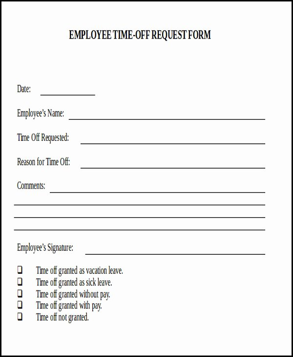 Request Off forms Templates New Sample Day F Request form 7 Examples In Word Pdf
