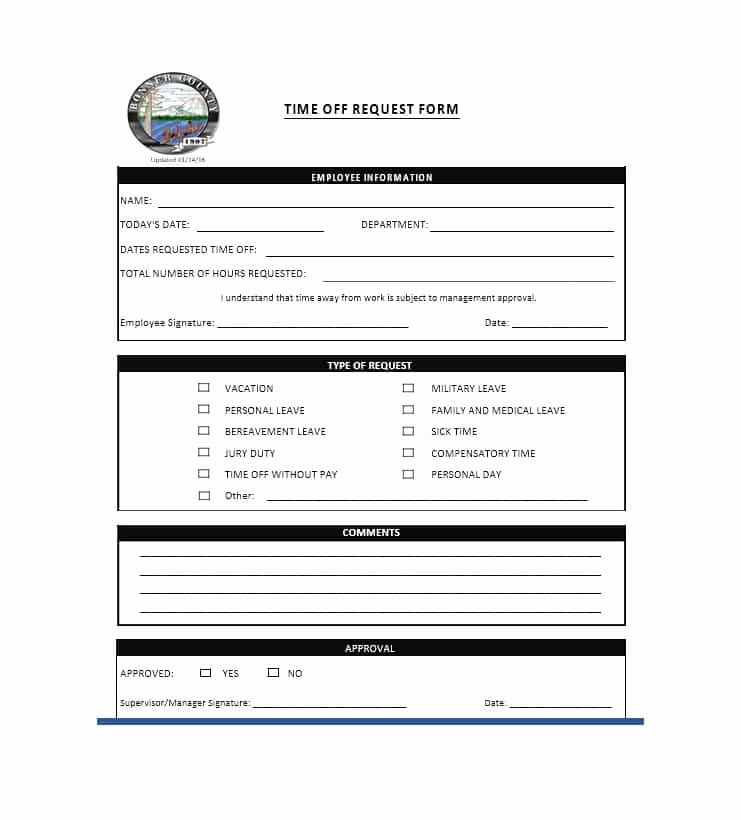 Requesting Time Off Template Fresh 40 Effective Time F Request forms & Templates