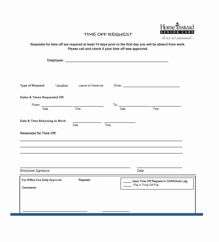 Requesting Time Off Template Lovely 40 Effective Time F Request forms & Templates