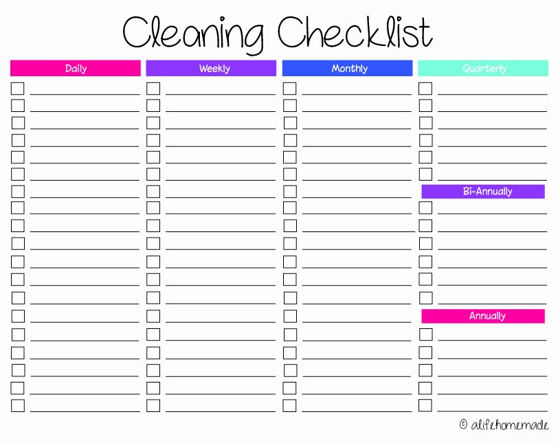 Residential Cleaning Checklist Template Awesome Cleaning Routines and Schedules