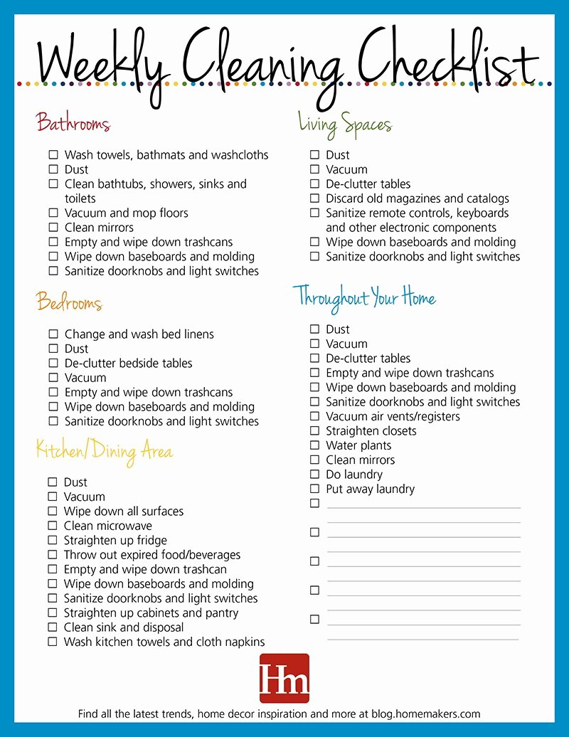 Residential Cleaning Checklist Template Inspirational Free Printables Daily Weekly & Monthly Cleaning Schedule