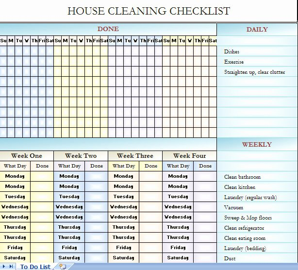 Residential Cleaning Checklist Template Lovely Checklist for House Cleaning