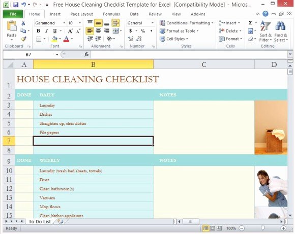 Residential Cleaning Checklist Template Luxury Free House Cleaning Checklist Template for Excel