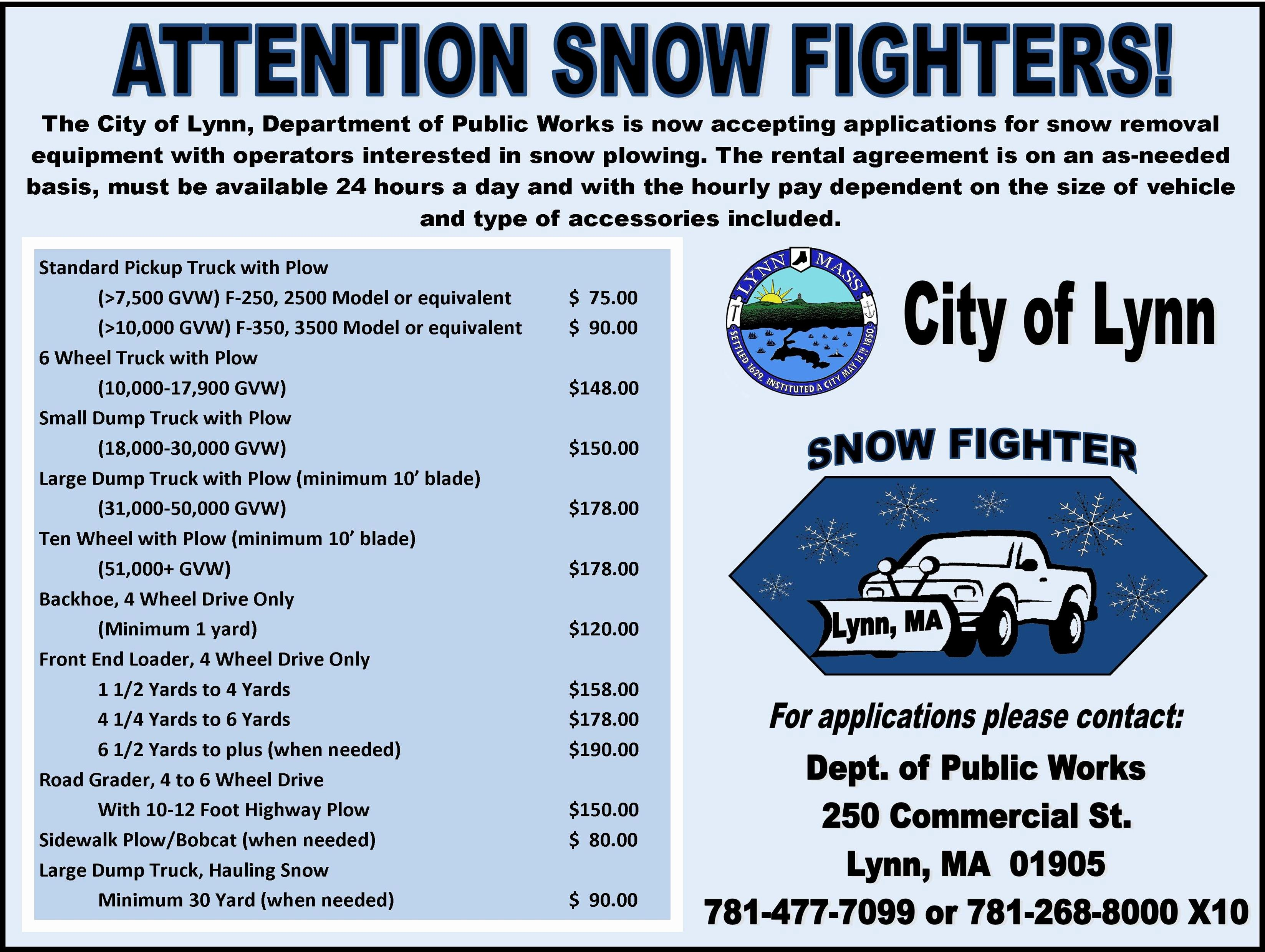 Residential Snow Removal Contract Template New Lynn Dpw Winter