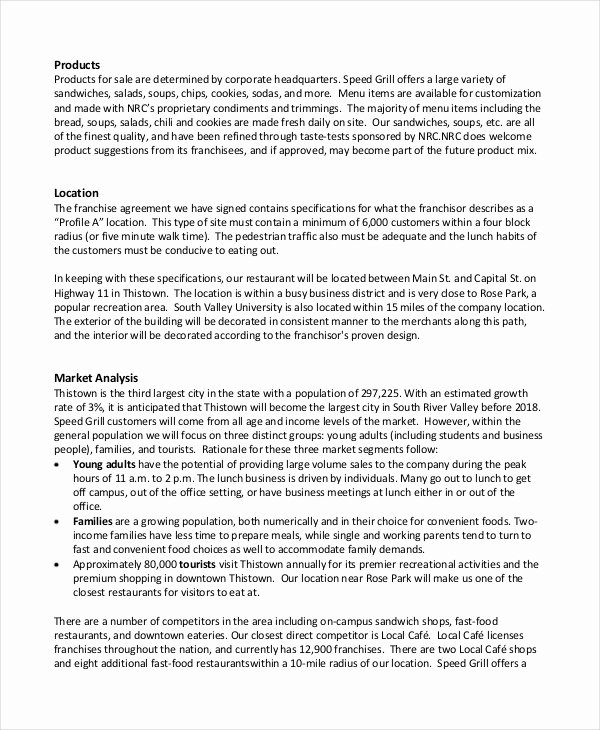Restaurant Business Plan Template Word Awesome Restaurant Business Plan 22 Pdf Word Google Docs