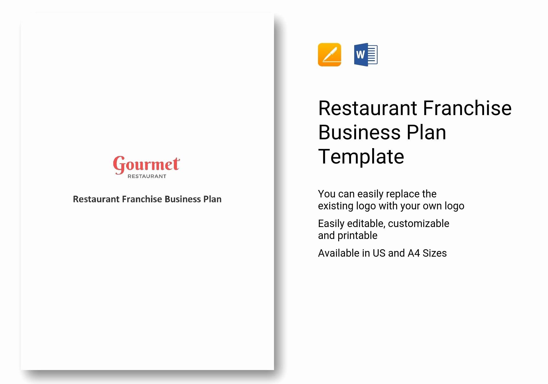Restaurant Business Plan Template Word Beautiful Restaurant Franchise Business Plan Template In Word Apple