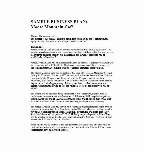 Restaurant Business Plan Template Word Elegant Restaurant Business Plan Template 21 Word Excel Pdf