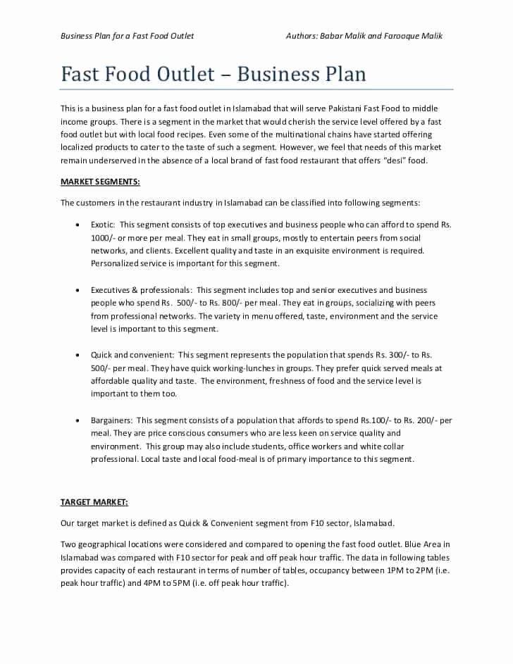 Restaurant Business Plan Template Word Elegant top 5 Resources to Get Free Restaurant Business Plan