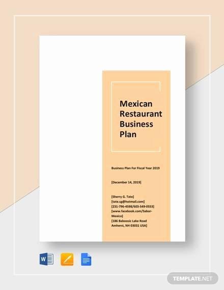 Restaurant Business Plan Template Word Inspirational 13 Sample Restaurant Business Plan Examples In Word