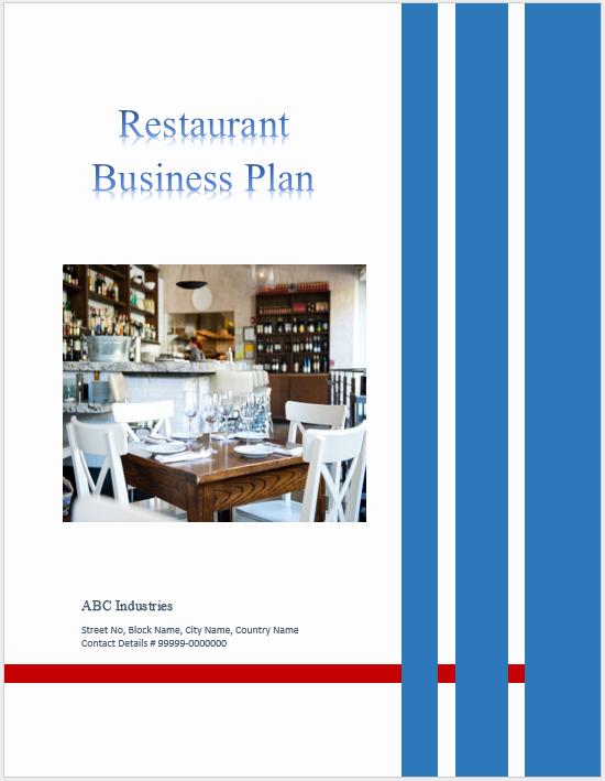 Restaurant Business Plan Template Word Inspirational Restaurant Business Plan Templates 6 Free Word Templates