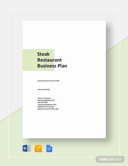 Restaurant Business Plan Template Word Lovely Restaurant Business Plan Template 22 Word Pdf Google