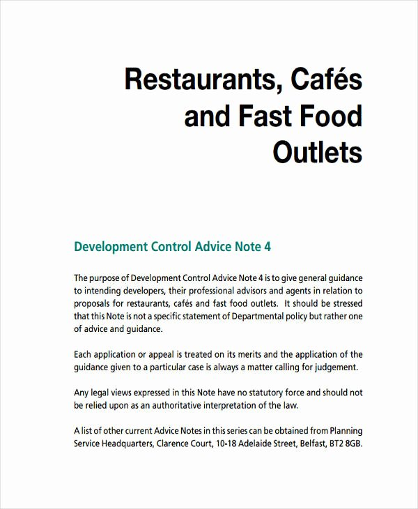 Restaurant Business Proposal Template Awesome 6 Restaurant Business Proposal Templates Free Samples