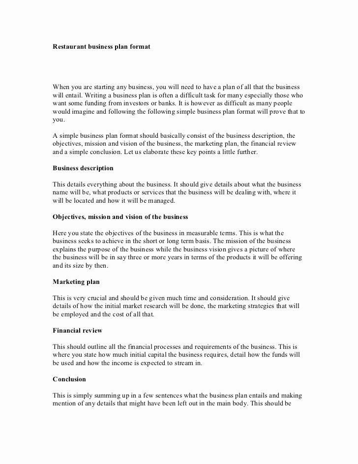 Restaurant Business Proposal Template Beautiful 9 Restaurant Strategic Plan Examples Pdf