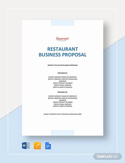 Restaurant Business Proposal Template Elegant How to Write A Restaurant Proposal Free Pdf Doc format