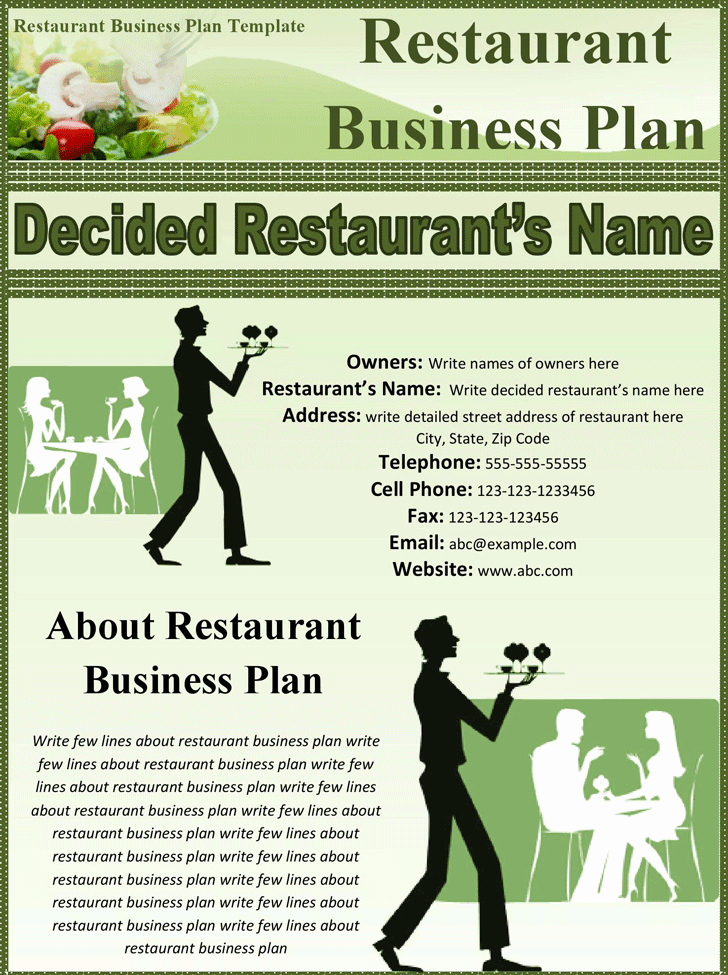 Restaurant Business Proposal Template Lovely 32 Free Restaurant Business Plan Templates In Word Excel Pdf