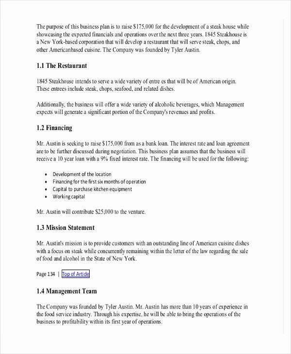 Restaurant Business Proposal Template Unique 19 Business Proposal Templates In Word