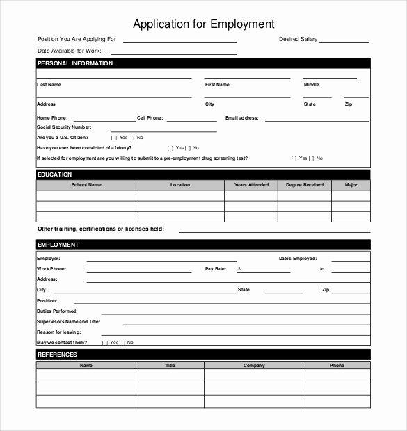 Restaurant Job Application Template New 10 Restaurant Application Templates – Free Sample