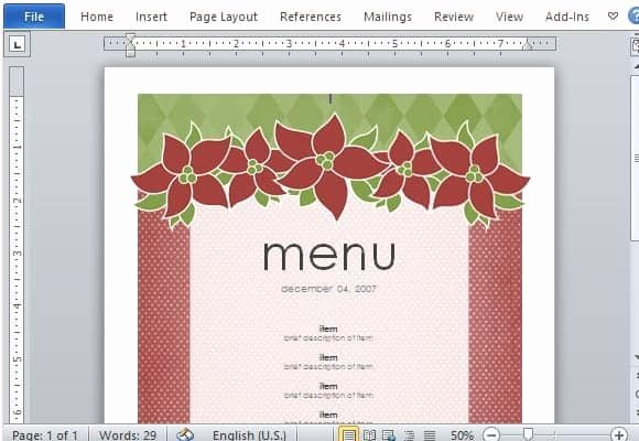 Restaurant Menu Template Word Awesome 21 Free Free Restaurant Menu Templates Word Excel formats