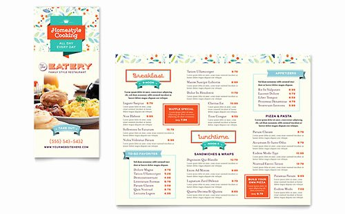 Restaurant Menu Template Word Awesome Tri Fold Menu Templates Word & Publisher Templates