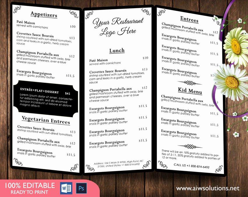 Restaurant Menu Template Word Inspirational Design & Templates Menu Templates Wedding Menu Food