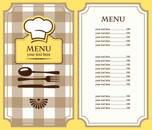Restaurant Menu Template Word Luxury Free Restaurant Menu Template