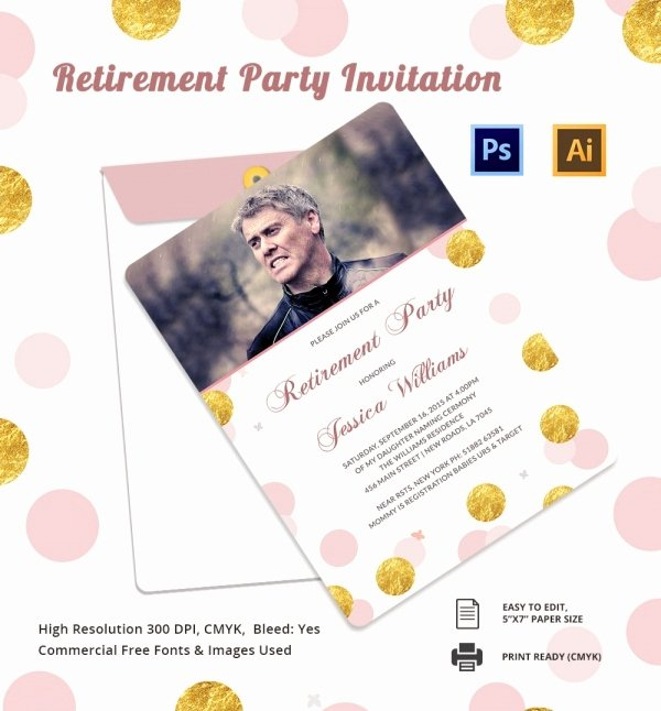 Retirement Flyer Free Template Beautiful Retirement Party Invitation Template 36 Free Psd format