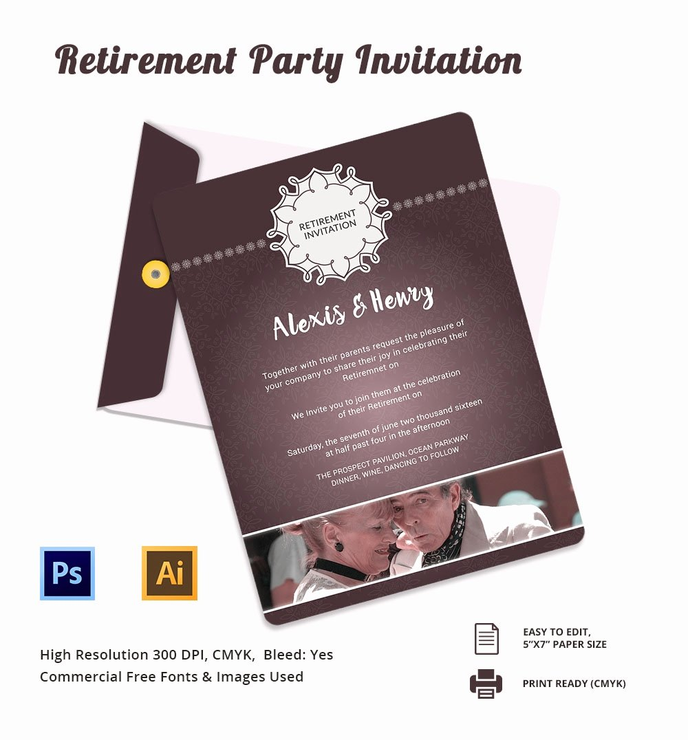 Retirement Flyer Free Template Beautiful Retirement Party Invitation Template – 36 Free Psd format