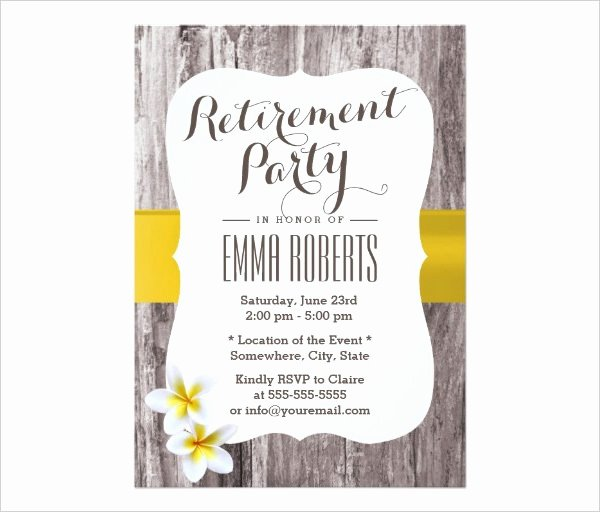 Retirement Flyer Free Template Elegant 36 Retirement Party Invitation Templates Psd Ai Word