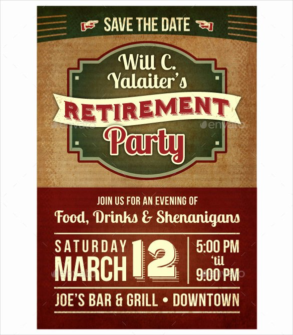 Retirement Flyer Free Template Fresh 12 Retirement Party Flyer Templates to Download Ai Psd Docs