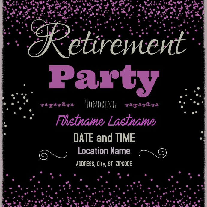 Retirement Flyer Free Template Lovely Retirement Party Template