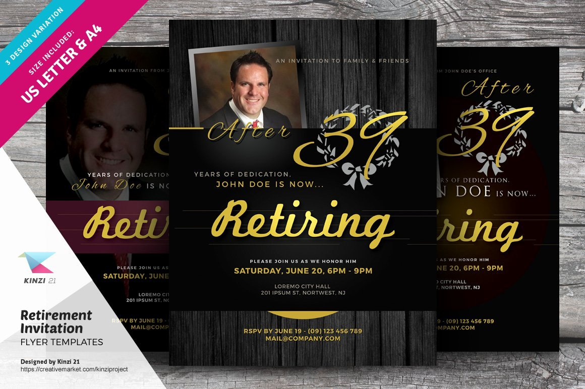 Retirement Party Flyer Template Beautiful Retirement Invitation Flyers Flyer Templates Creative