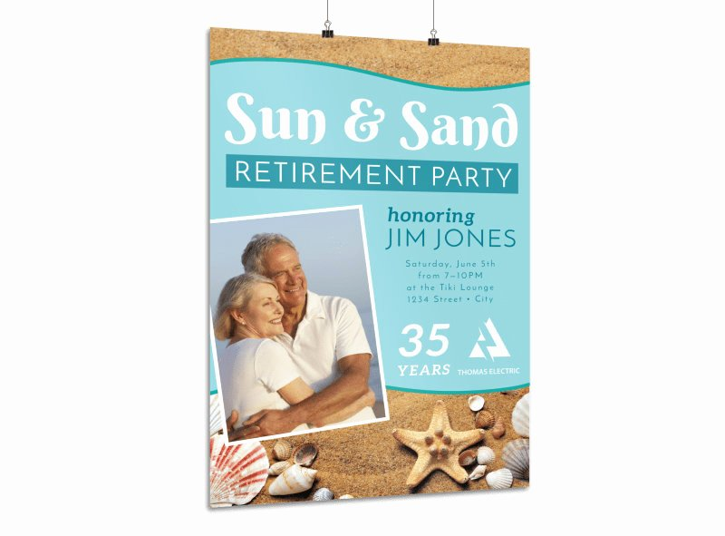 Retirement Party Flyer Template Best Of Retirement Party Poster Templates