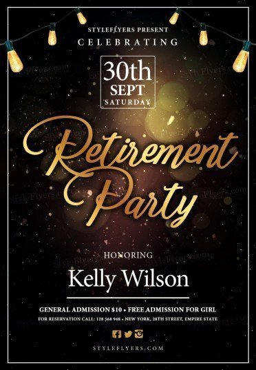 Retirement Party Flyer Template Elegant Retirement Psd Flyer Template Styleflyers