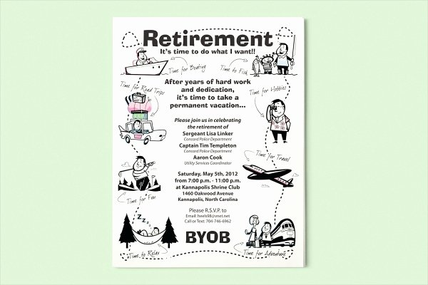 Retirement Party Flyer Template Inspirational 15 Retirement Flyers Psd Vector Eps Jpg Download