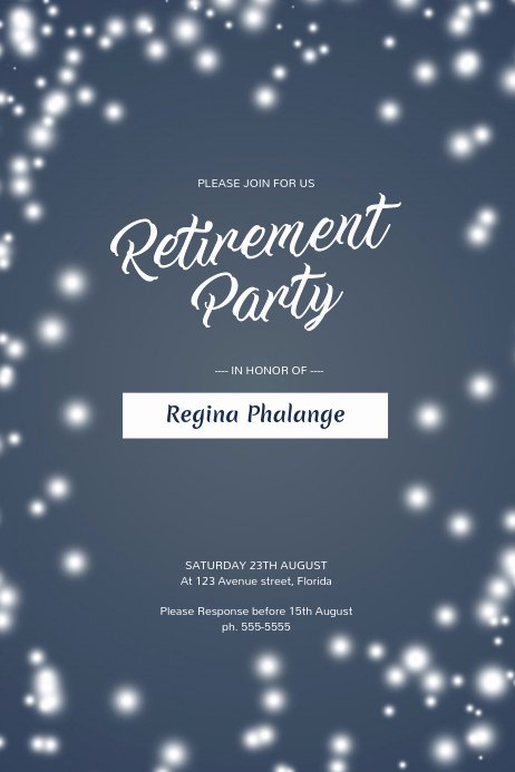 Retirement Party Flyer Template Inspirational Retirement Party Flyer Template