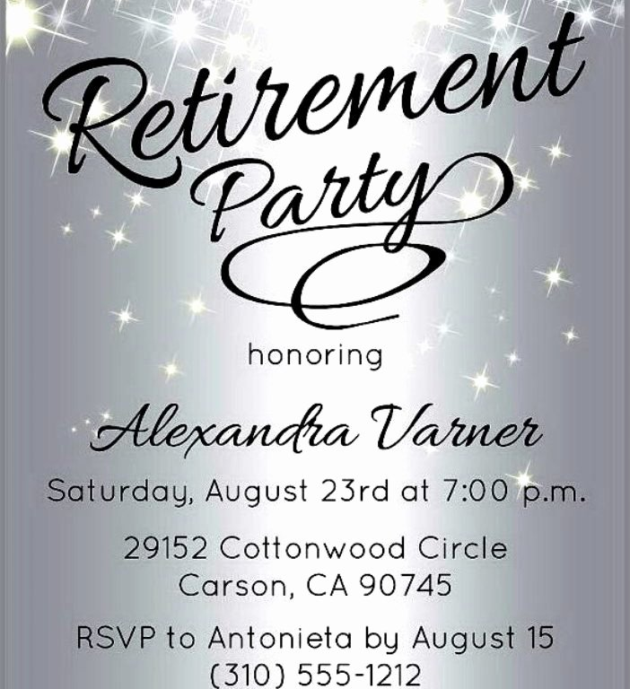 Retirement Party Flyer Template Luxury Retirement Invitation Template Word Cobypic