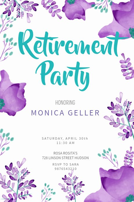 Retirement Party Flyer Templates Free Awesome Retirement Poster Templates