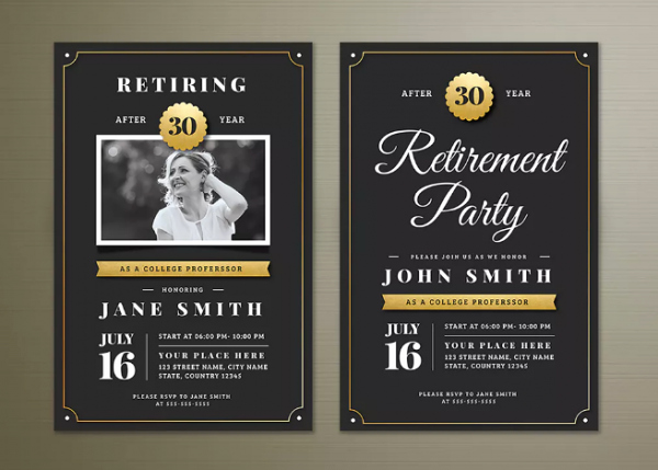 Retirement Party Flyer Templates Free Elegant 15 Retirement Party Invitation & Flyer Templates Xdesigns