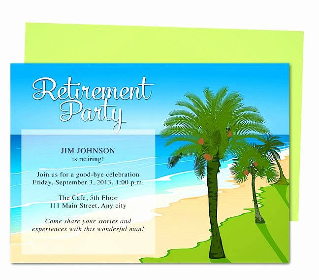 Retirement Party Flyer Templates Free Elegant Tropical Oasis Retirement Party Invitation Templates Use
