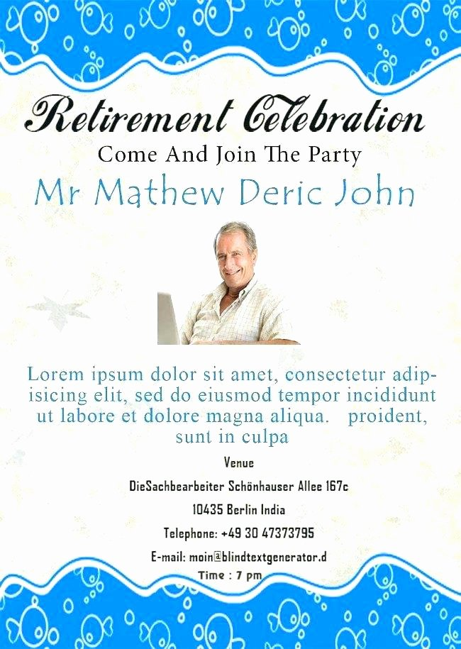 Retirement Party Flyer Templates Free Fresh Retirement Announcement Flyer Template