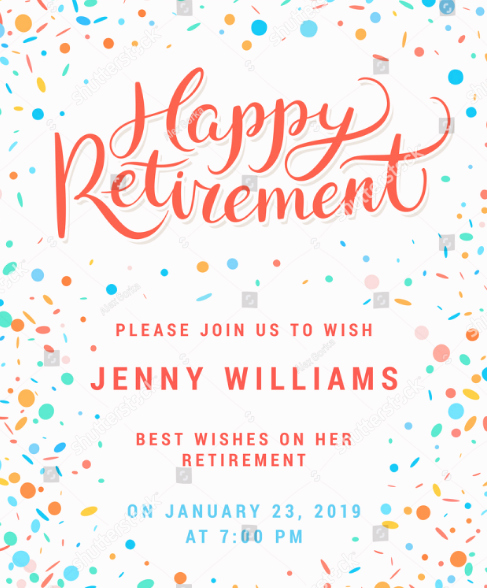Retirement Party Flyer Templates Free Inspirational 15 Retirement Party Invitation & Flyer Templates Xdesigns